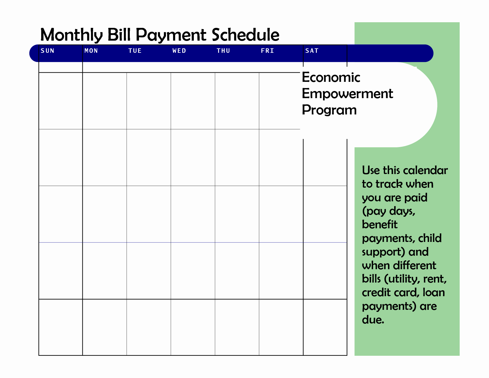 Monthly Bill Calendar Template Best Of Monthly Based Bill Payment Schedule Template Vatansun