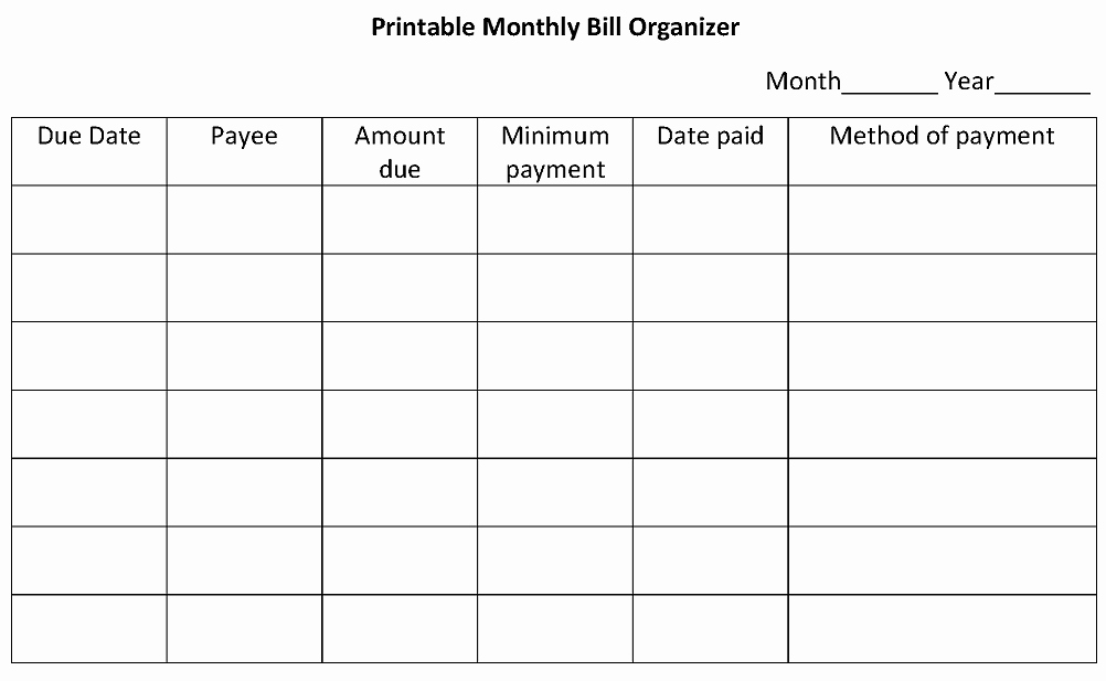 Monthly Bill Calendar Template Elegant 4 Steps to organize Bills