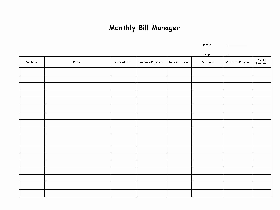 Monthly Bill Calendar Template Fresh Bill Paying Archives Ellen S Blog Professional