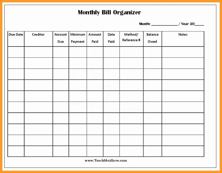 Monthly Bill Calendar Template Inspirational 3 4 Free Printable Bill Payment Schedule