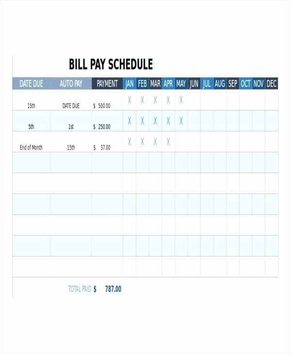 Monthly Bill Calendar Template Luxury Monthly Payment Calendar Template Bill Pay Best Line