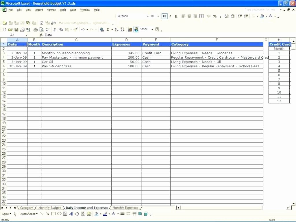 Monthly Budget Excel Spreadsheet Template Awesome Template Business Monthly Bud Template