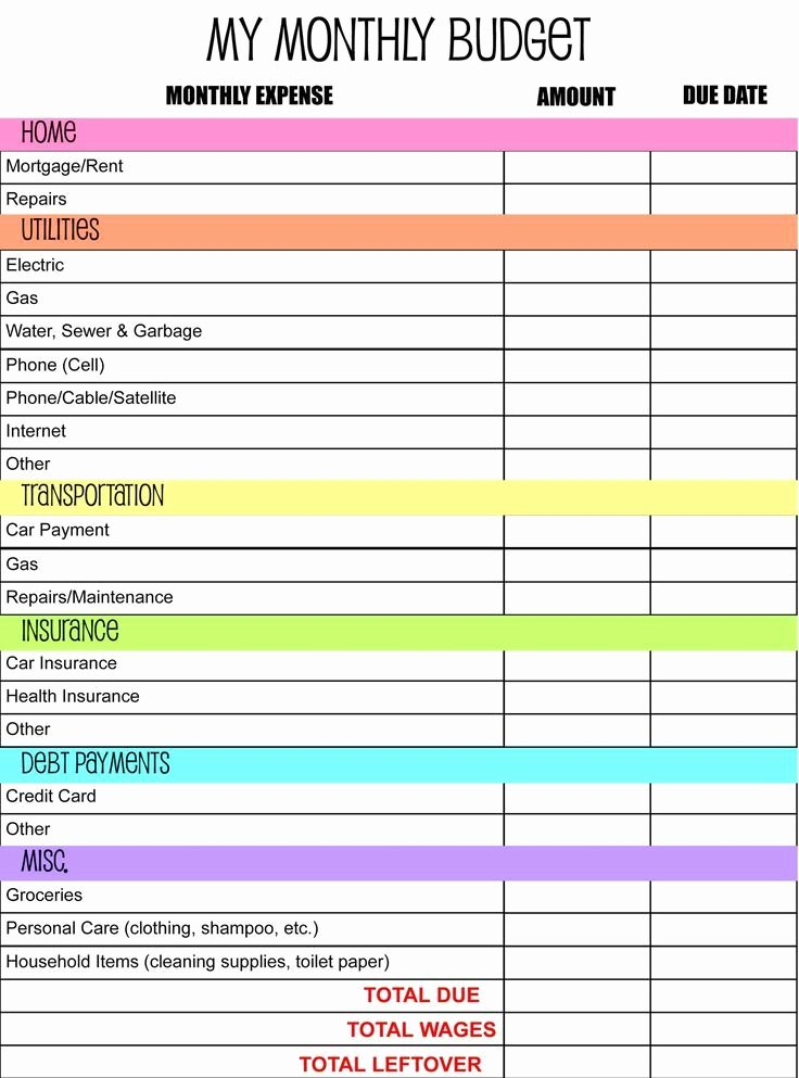 Monthly Budget Excel Spreadsheet Template Beautiful 17 Best Ideas About Monthly Bud Template On Pinterest