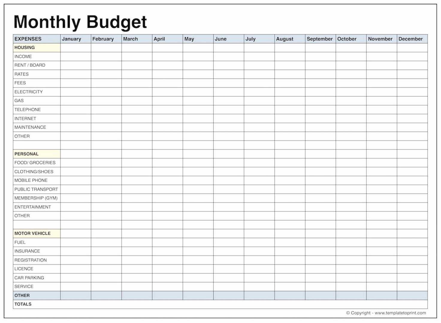 Monthly Budget Excel Spreadsheet Template Lovely Blank Monthly Bud Template Pdf Samplebusinessresume