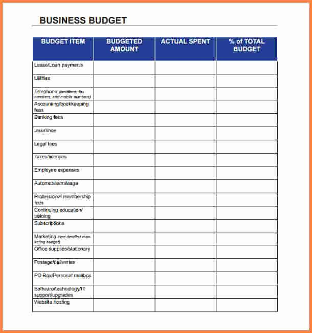 Monthly Business Budget Template Beautiful 5 Business Monthly Expenses Spreadsheet