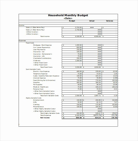 Monthly Business Budget Template Unique 12 Sample Monthly Bud Spreadsheet Templates Word