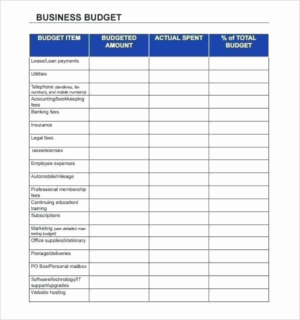 Monthly Business Budget Template Unique Expense Template for Small Business Monthly Expenses