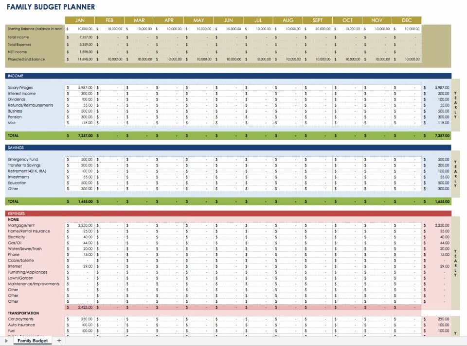 Monthly Business Budget Template Unique Free Monthly Bud Templates