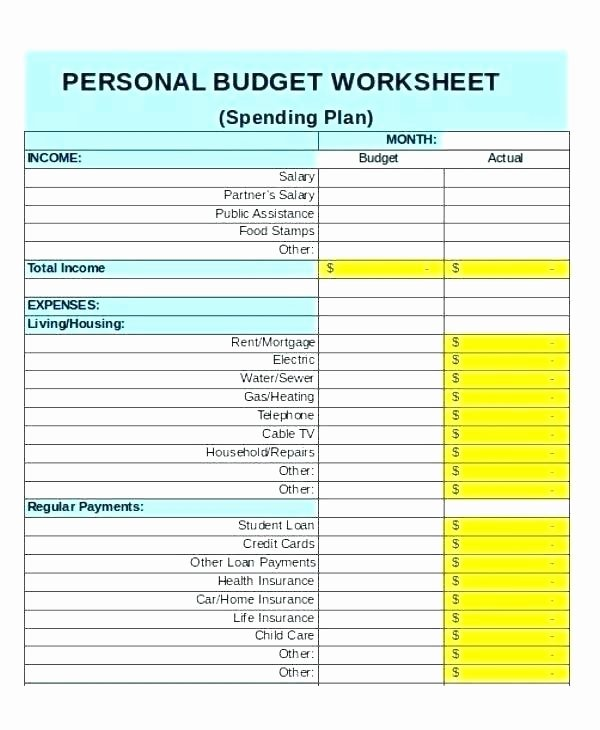 Monthly Business Expense Template Fresh Monthly Bud Spreadsheet Template Free Household Expense