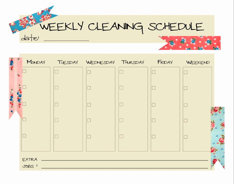 Monthly Cleaning Schedule Template Best Of Keepin' It Clean…