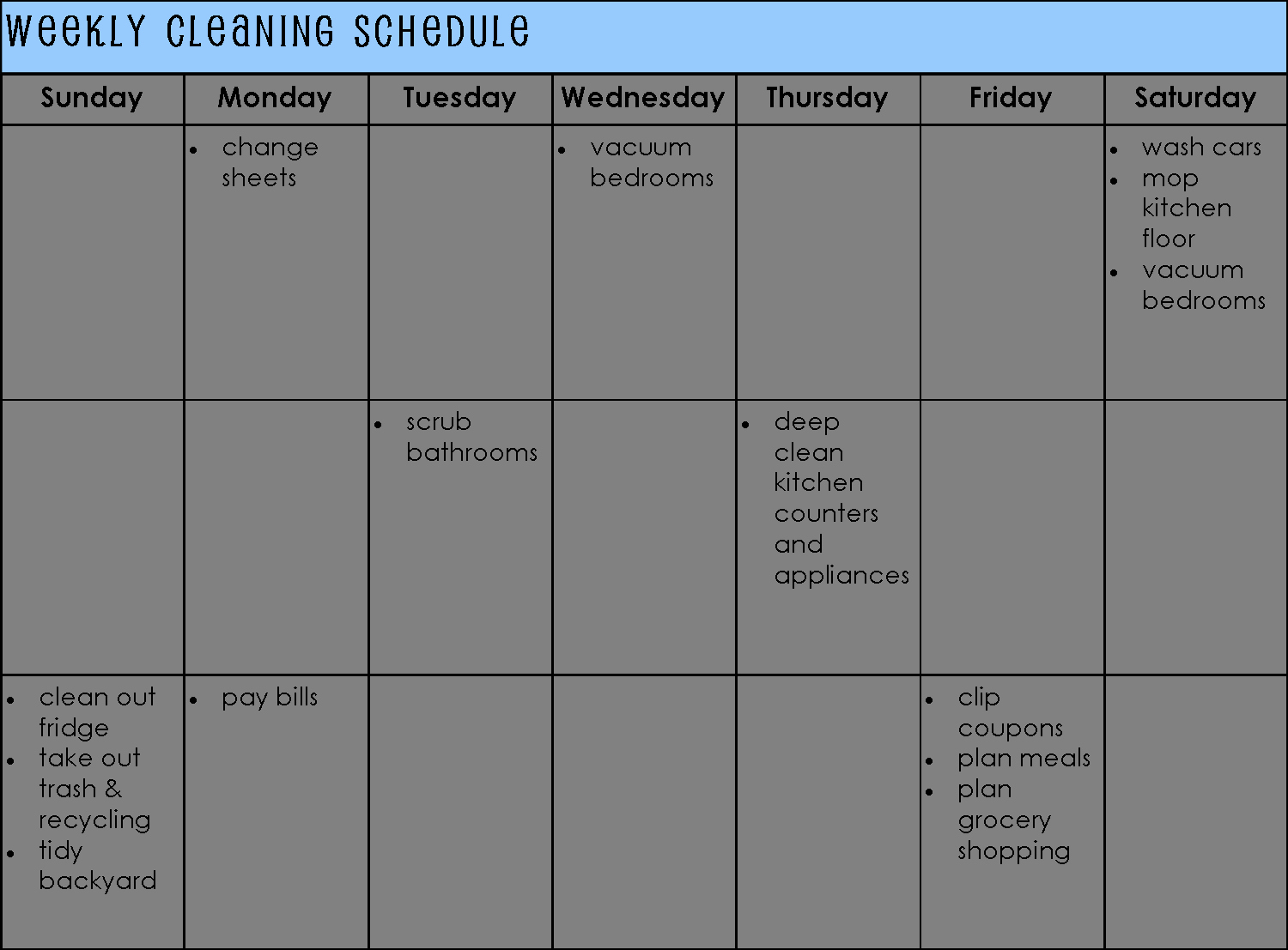 Monthly Cleaning Schedule Template Luxury Establishing A Cleaning Schedule for Your Home Life as Mom