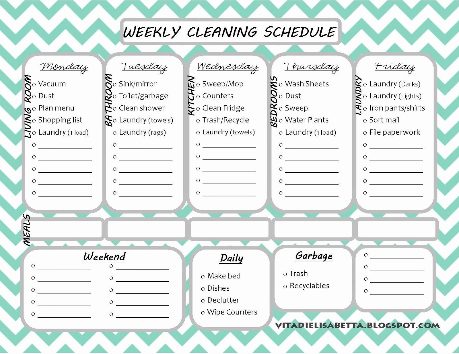 Monthly Cleaning Schedule Template Luxury List Junkie Weekly Cleaning Schedule Free Printable