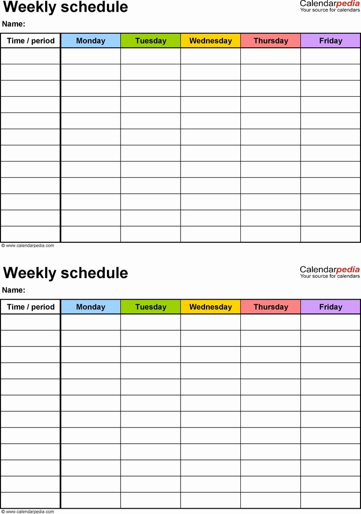 Monthly Cleaning Schedule Template Unique Best 25 Weekly Schedule Template Excel Ideas On Pinterest