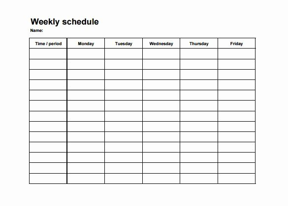 Monthly Employee Schedule Template Awesome Employee Shift Schedule Template 12 Free Word Excel