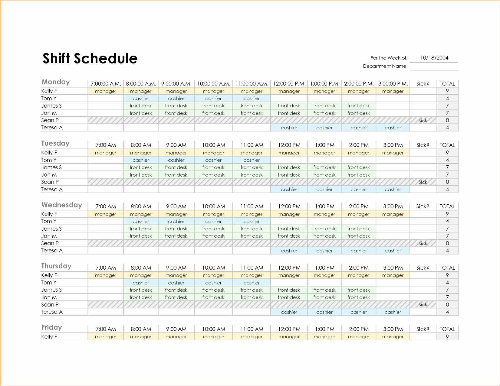 Monthly Employee Schedule Template Best Of 8 Monthly Schedule Template