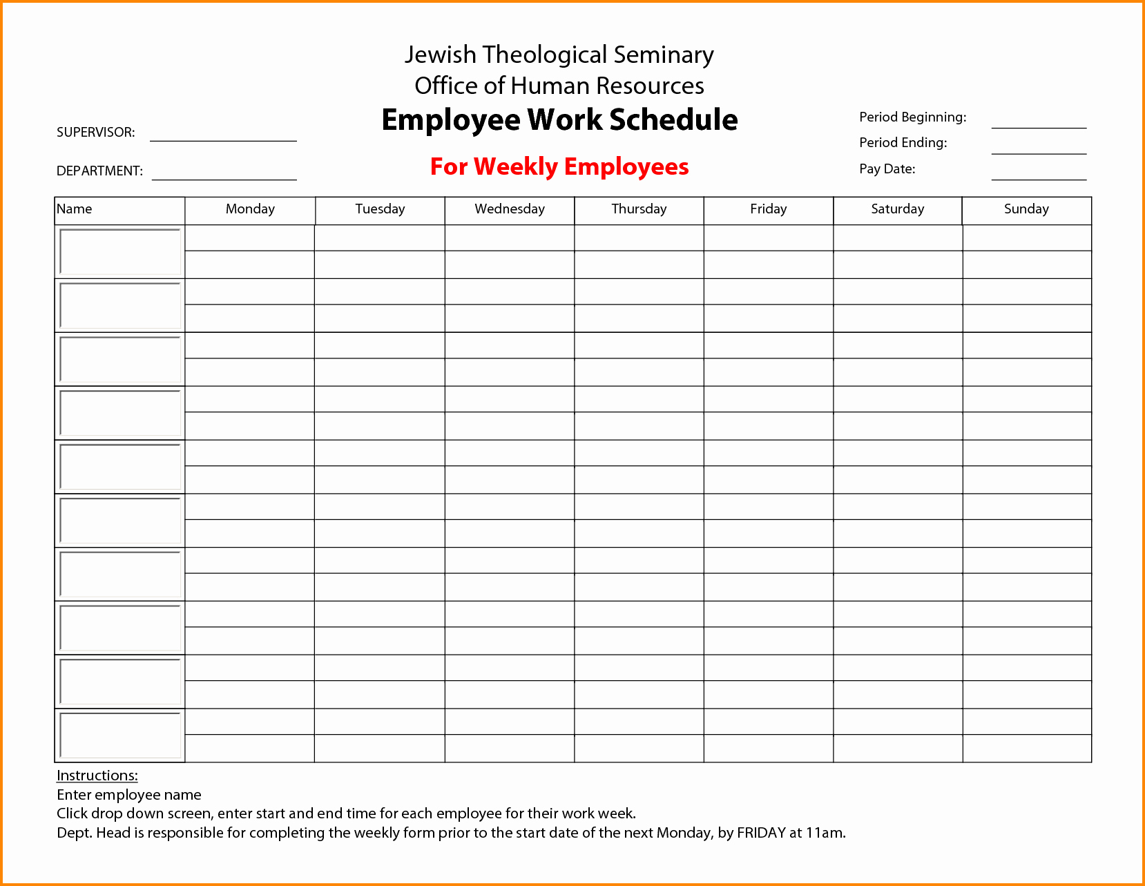 Monthly Employee Schedule Template Elegant 7 Employee Schedule Maker