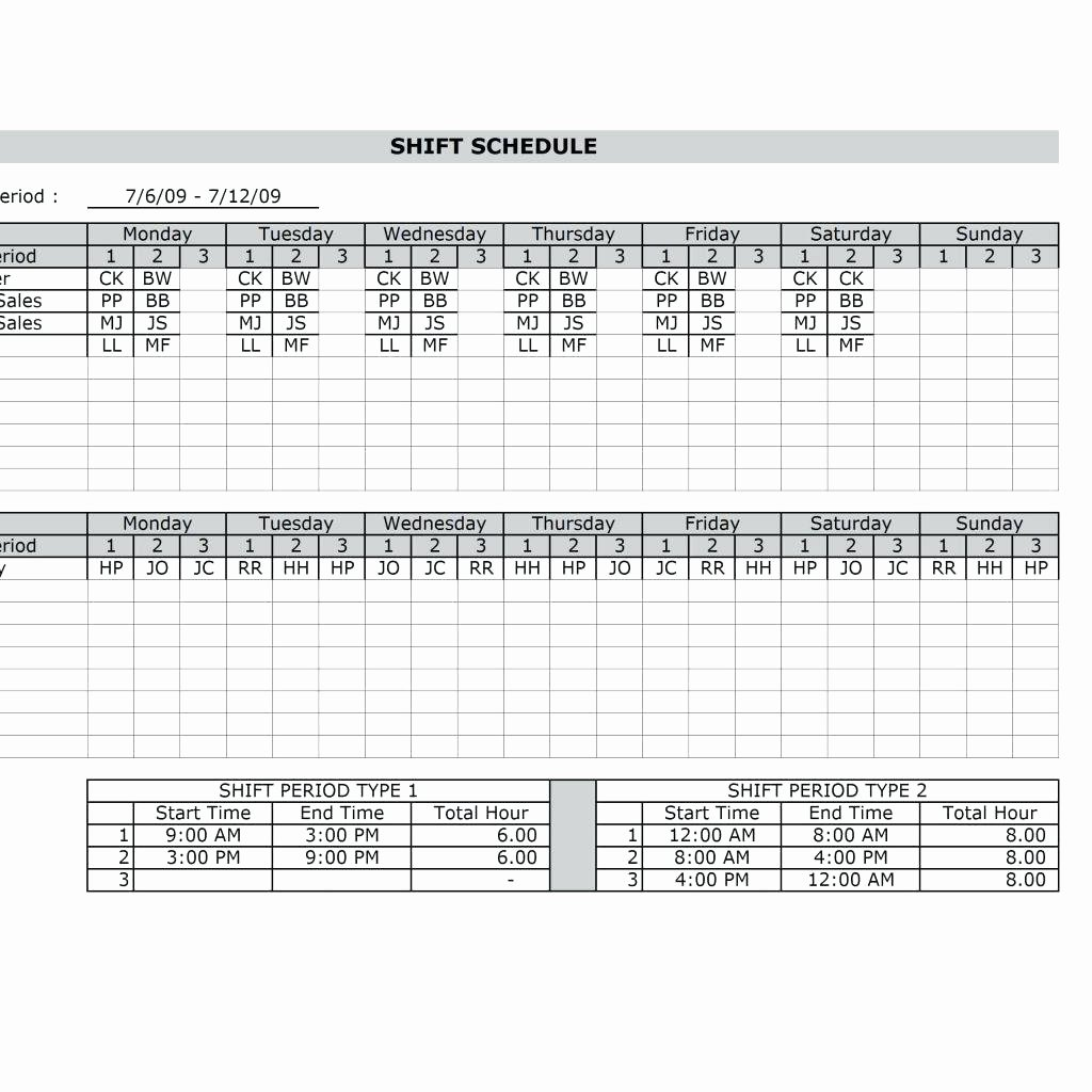 Monthly Employee Schedule Template Lovely Template Schedule Template In Excel