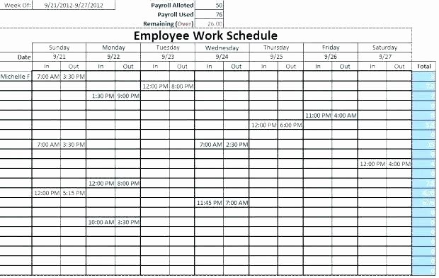 Monthly Employee Schedule Template Luxury Excel Employee Schedule Monthly Staff Template Work