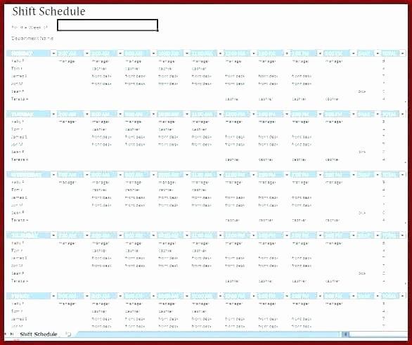 Monthly Employee Shift Schedule Template Awesome Restaurant Employee Schedule Template Excel Monthly Work
