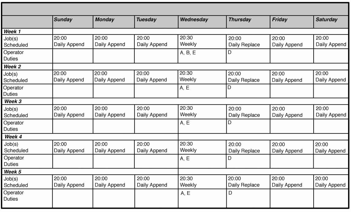 Monthly Employee Shift Schedule Template Beautiful Download Scheduling Spreadsheet for Excel