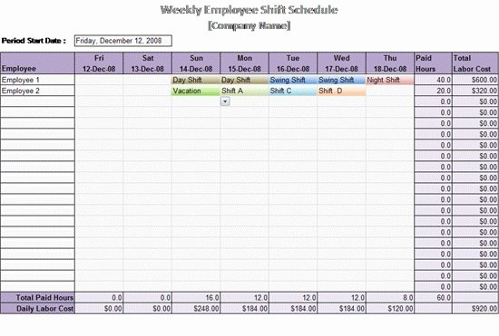 Monthly Employee Shift Schedule Template Lovely Building Maintenance Schedule Template Invitation Template