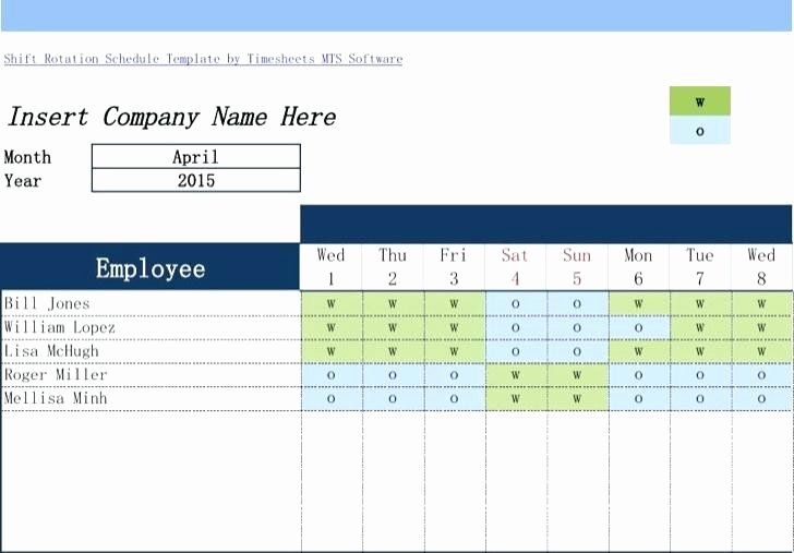 Monthly Employee Shift Schedule Template Lovely Rotating Weekend Schedule Template Shift Download