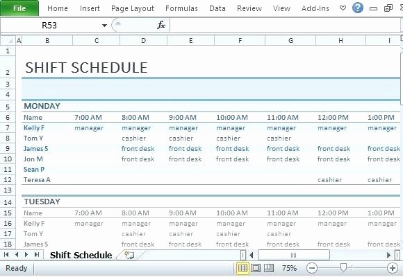 Monthly Employee Shift Schedule Template Luxury How to Make A Work Schedule Excel Make A Work Schedule