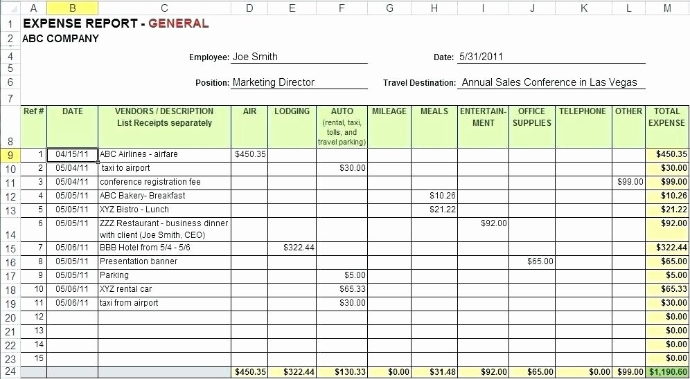 Monthly Expense Report Template Excel Fresh Free Google Business Templates Monthly Expense Report