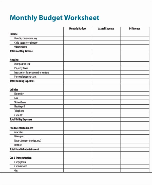 Monthly Expense Report Template New 26 Expense Report Samples