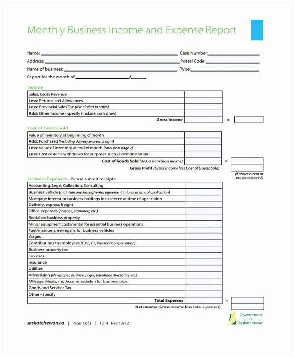 Monthly Expense Report Template New 37 Monthly Report Templates In Pdf