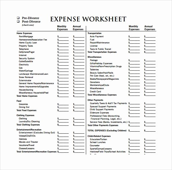 Monthly Expense Spreadsheet Template Awesome Expense Sheet Template 13 Download Free Documents for Pdf