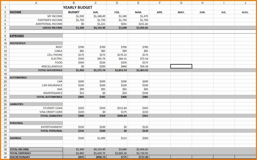 Monthly Expense Spreadsheet Template Luxury Monthly Expenses Spreadsheet Template Monthly Expense