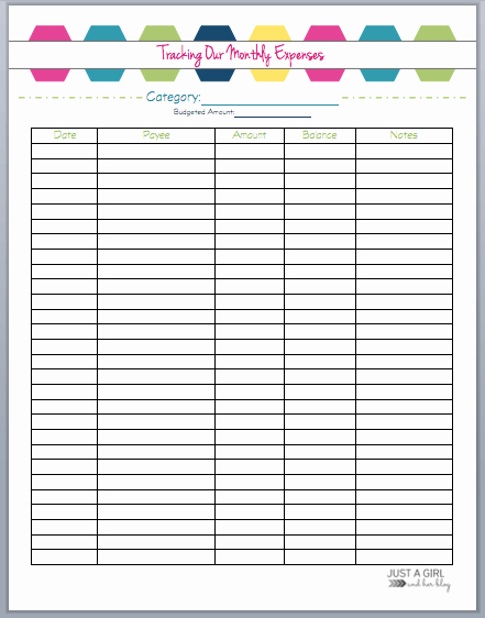 Monthly Expense Tracker Template Awesome organizing Finances How to Save More Money This Year