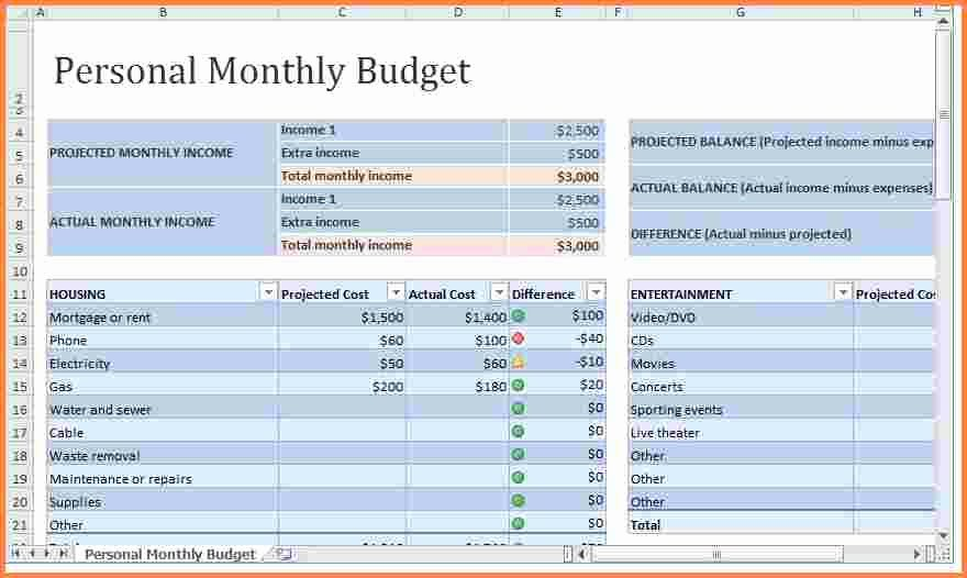 Monthly Expenses Spreadsheet Template Elegant 8 Monthly Expenses Spreadsheet Template