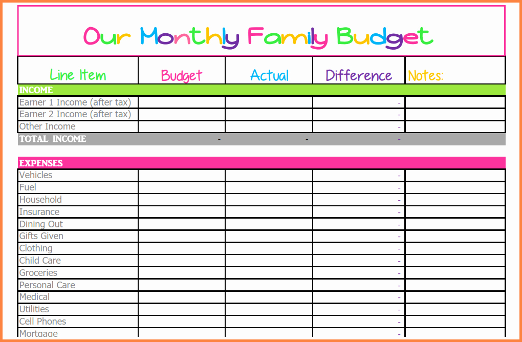 Monthly Expenses Spreadsheet Template New 9 Bud Spreadsheet Monthly