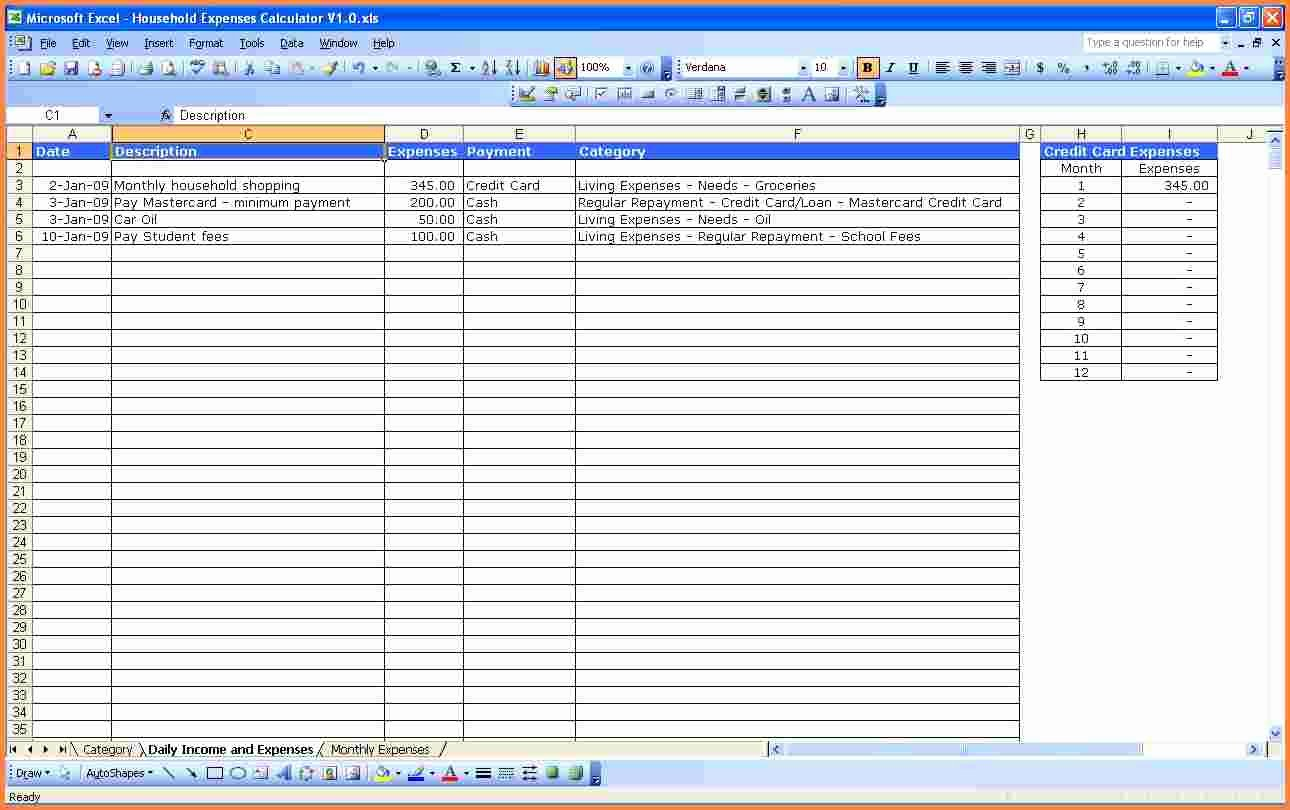 Monthly Expenses Spreadsheet Template Unique 8 Monthly Expenses Spreadsheet Template