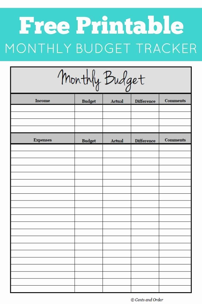 Monthly Income and Expenses Template Awesome Free Monthly Bud Printable
