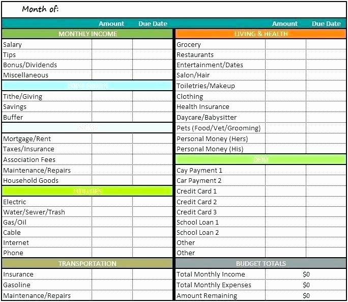 Monthly Income and Expenses Template Inspirational Family Expenses Spreadsheet Template Personal Monthly