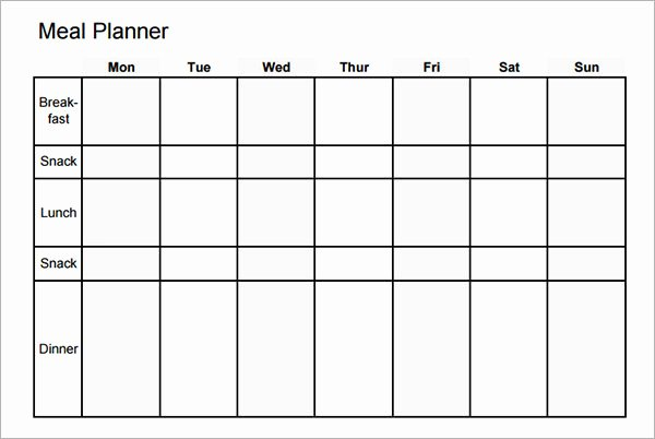 Monthly Meal Planner Template Awesome Meal Planning Template 17 Download Free Documents In Pdf