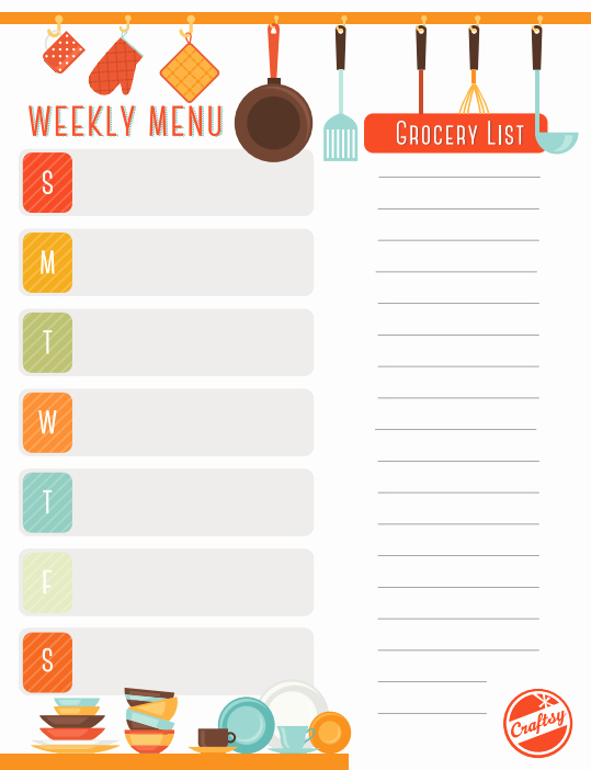 Monthly Meal Planner Template Best Of Get A Free Printable Weekly Meal Planner On Craftsy