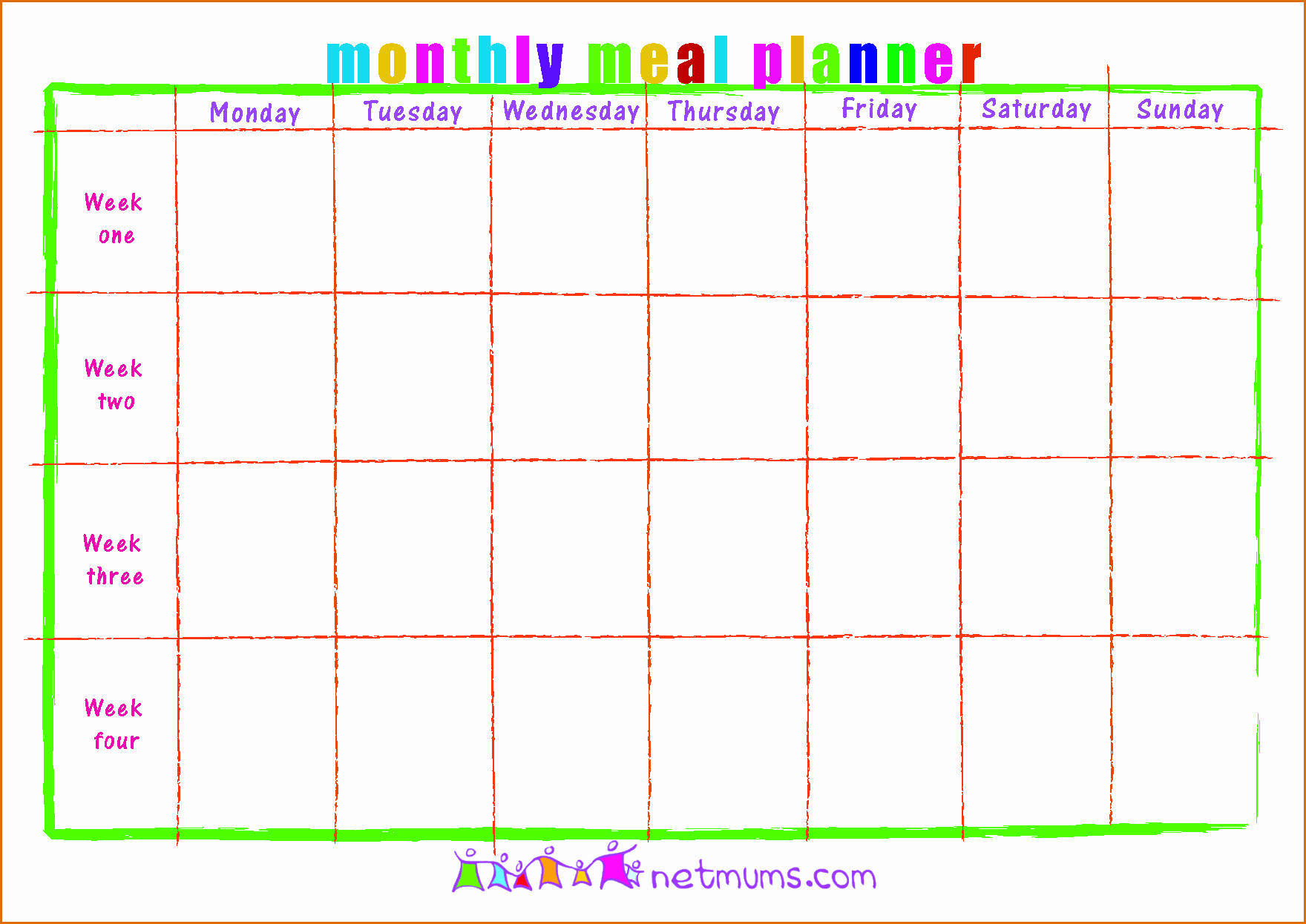 Monthly Meal Planner Template Fresh 3 Meal Calendar Template