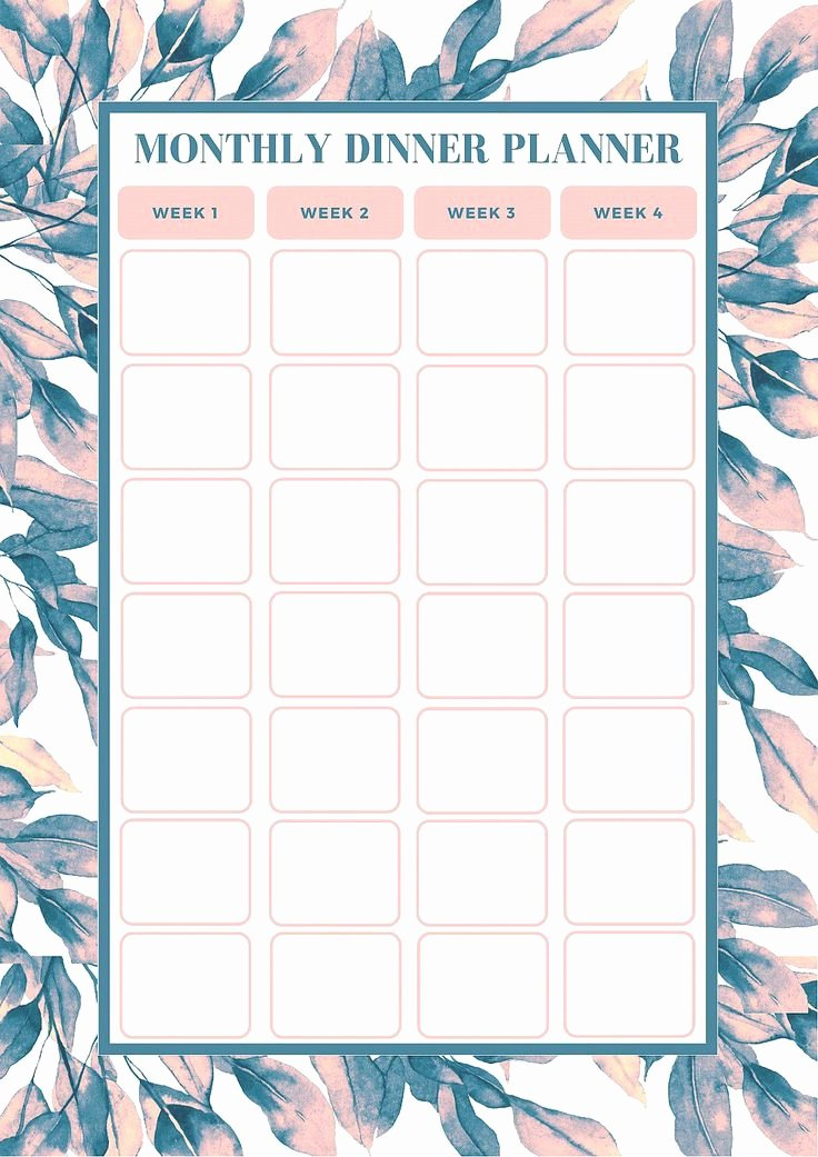 Monthly Meal Planner Template Fresh Best 25 Meal Planning Templates Ideas On Pinterest