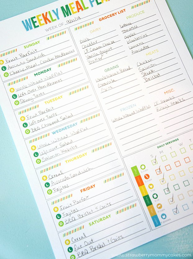 Monthly Meal Planner Template Inspirational Printable Meal Planning Templates to Simplify Your Life