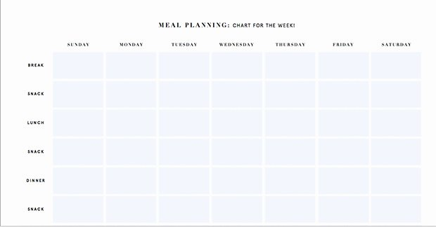 Monthly Meal Planner Template Lovely Printable Meal Planning Templates to Simplify Your Life