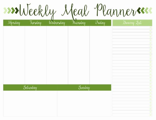 Monthly Meal Planner Template Lovely Printable Weekly Meal Planners Free