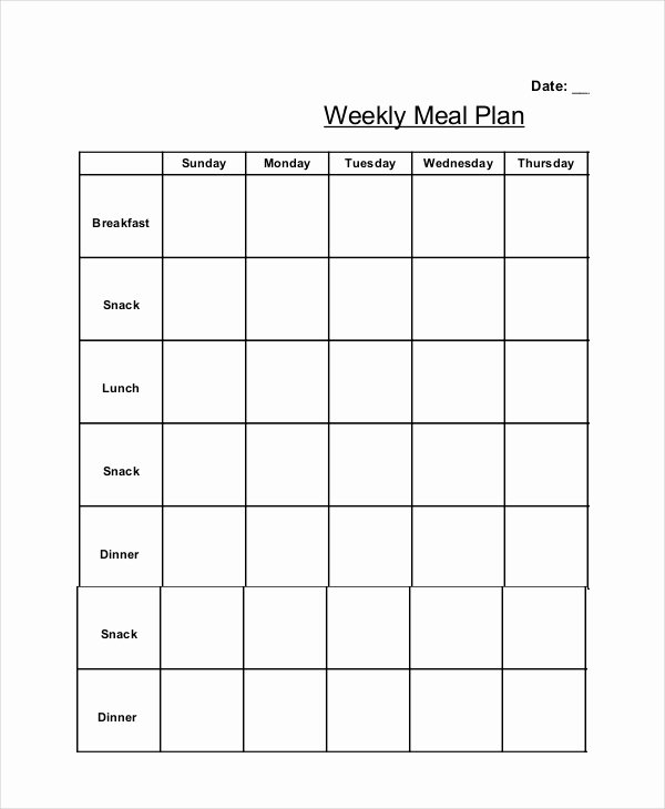 Monthly Meal Planner Template Luxury Weekly Meal Planner 10 Free Pdf Psd Documents Download