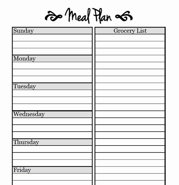 Monthly Meal Planner Template New Printable Meal Planning Templates to Simplify Your Life