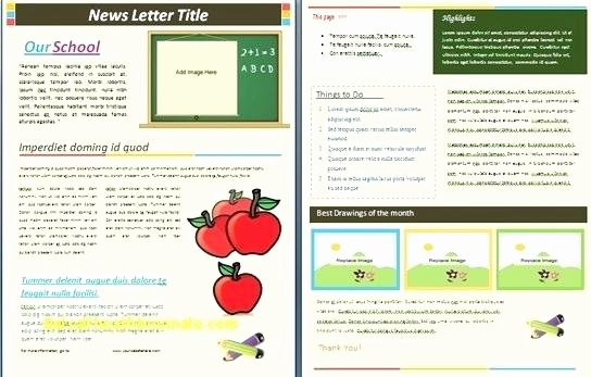 Monthly Newsletter Template for Teachers Elegant Classroom Newsletter Template Word Fresh Monthly for