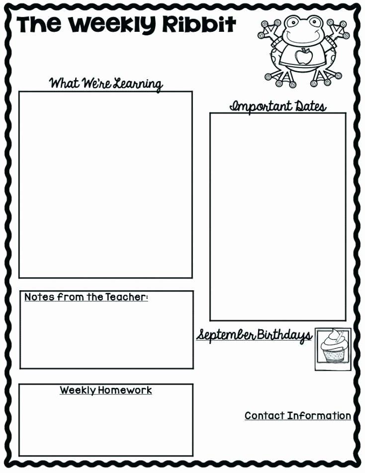 Monthly Newsletter Template for Teachers Elegant September Newsletter Templates Free New Ideas Best