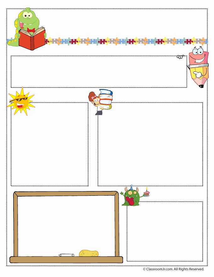 Monthly Newsletter Template for Teachers Elegant Teacher Newsletter Templates Woo Jr Kids Activities